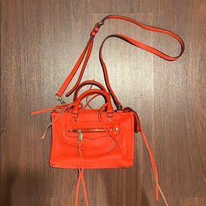 Rebecca minkoff micro regan satchel in poppy red